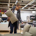 Women shopping for furniture